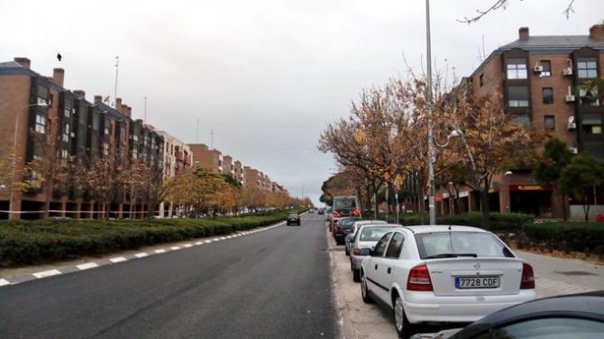 Gran Vía de Hortaleza ya ha sido asfaltada, falta por pintar el ciclo carril compartido a 30 km/h