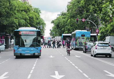 10 nuevos kilómetros de carriles bus