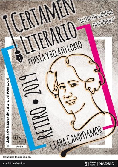 El distrito de Retiro convoca el primer Certamen Literario Clara Campoamor de poesía y relato corto