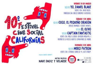 Vuelve el Festival de Cine Social Californias