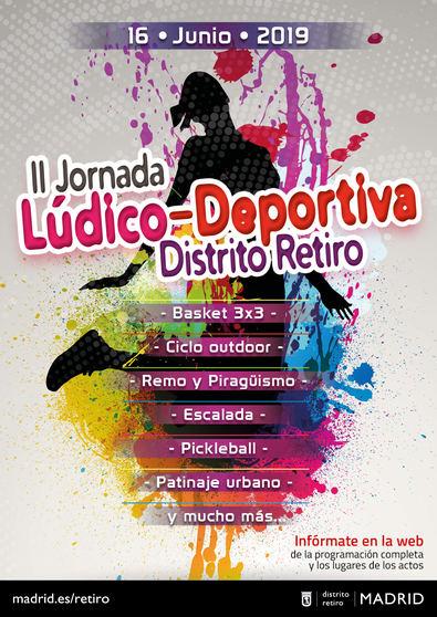 Hasta 33 disciplinas deportivas en nueve emplazamientos en la II Jornada Lúdica Deportiva del distrito de Retiro