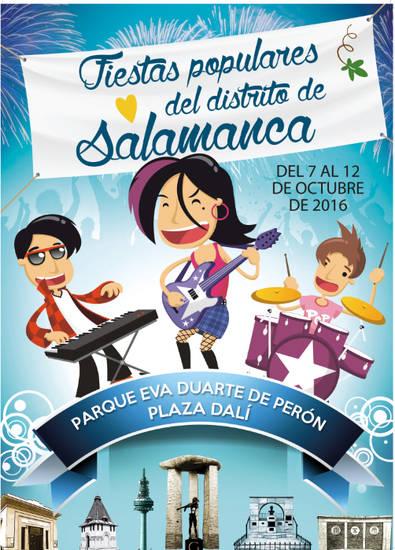 Pregón y casetas en las Fiestas Populares de Salamanca