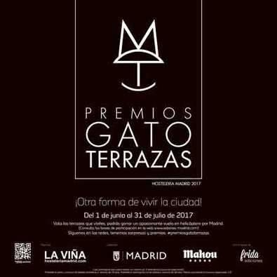 PREMIOS GATO TERRAZAS MADRID regresan hoy en su II edición para elegir 'La mejor terraza de Madrid 2017' entre más de 50 participantes