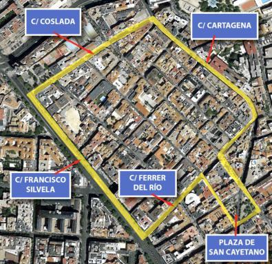 Las calles de Francisco Silvela, Ferrer del Río, Cartagena y Coslada delimitan la zona a actuar, si bien podría haber cambios.