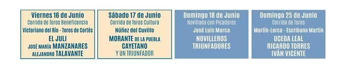 Festejos de junio para Las Ventas.