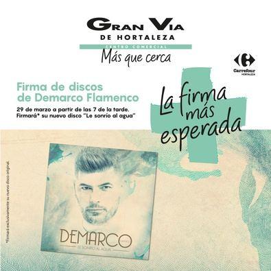 El viernes, Demarco firma su último disco en Gran Vía de Hortaleza
