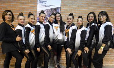 La gimnasia rítmica, de campeonato en Hortaleza