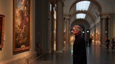 De paseo por el Prado, con Jeremy Irons