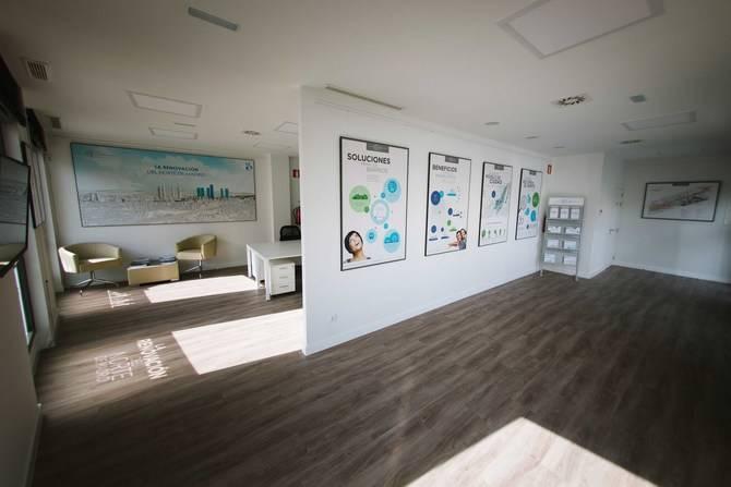 Imagen de la nueva oficina de información de Distrito Castellana Norte.
