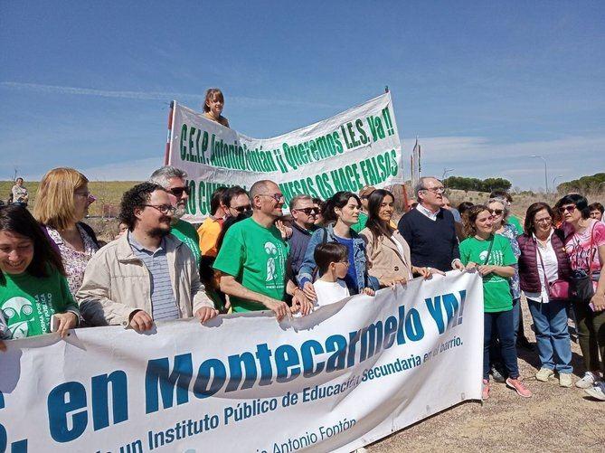 Imagen de archivo de una de las manifestaciones por el centro de salud de Montecarmelo.