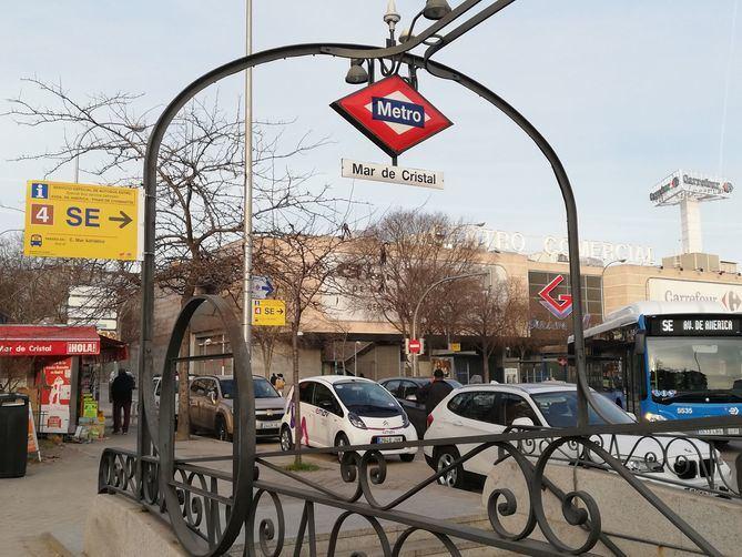 Mar de Cristal es uno de los puntos conflictivos tras el corte de la Línea 4 de Metro.