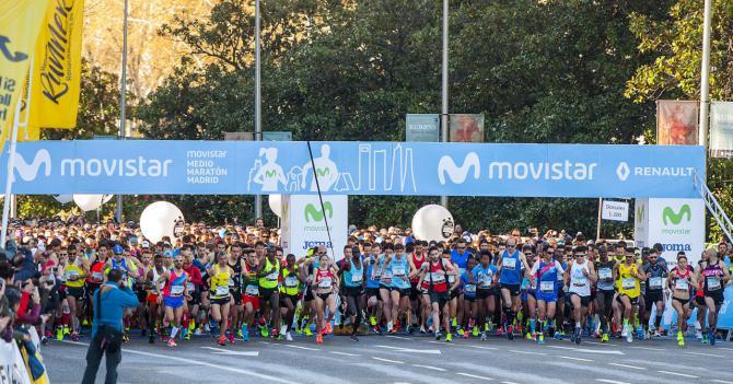 Madrid celebra este domingo su Medio Maratón con previsión de 20.000 corredores