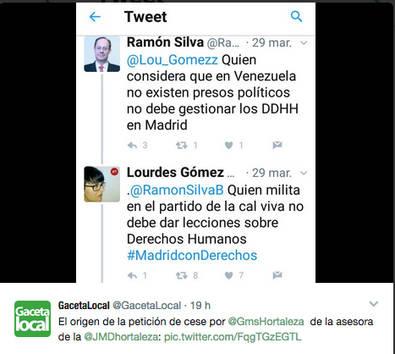 El PSOE abandona el Pleno de Hortaleza en protesta por la