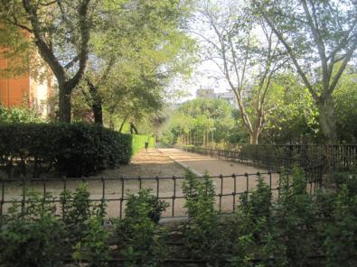 El parque de la Orotava tras la reforma.