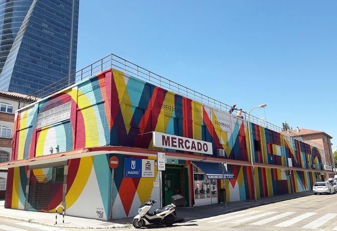 La intervención de Boa Mistura en el mercado municipal de San Cristóbal.