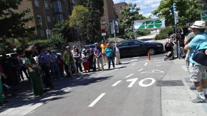 Imagen de archivo de una concentración vecinal reclamando la finalización de la Vía de la Gasolina.