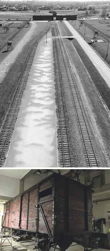 Una de las piezas más llamativas de la exposición es este vagón original de los trenes que conducían a los prisioneros judíos camino de los campos de exterminio: al final de la vía, Auschwitz-Birkenau, sin salida.