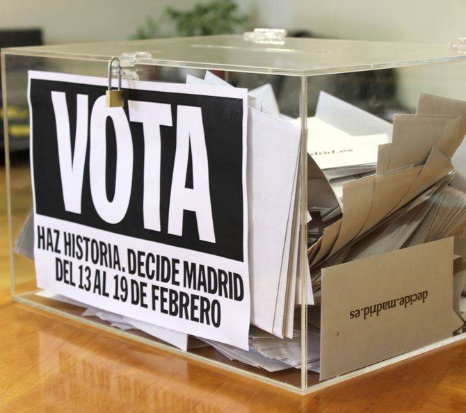 Hasta el 19 de febrero podrán votar los madrileños.