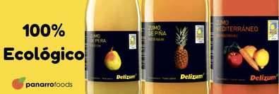Delizum, zumos 100% ecológicos, fabricados por Panarro Foods S.L.